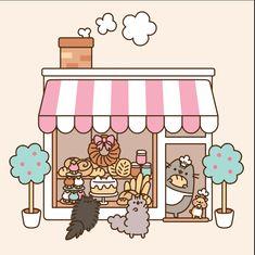 Pusheen teaming up with Genius kitchen to make pusheen themed recipes. Gato Pusheen, Pusheen Love, Chat Kawaii, Kawaii Cat, Kawaii Drawings, Cute Drawings, Pusheen Stormy, Image Chat, Nyan Cat