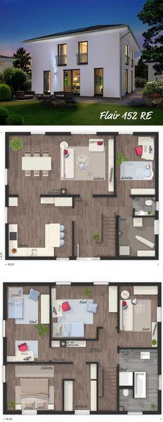 """Das Stadthaus """"Flair 152 RE"""" kann ab sofort auch als 6-Zimmer-Variante gebaut werden und ist damit noch attraktiver für Familien mit Kindern. Mehr Infos hier: http://bit.ly/2kwQEQ5 #Hausbau #Massivhaus #Stadthaus"""