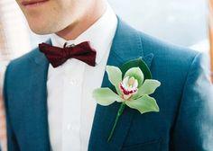 Claire & Trent's City Laneway Wedding Creative Wedding Inspiration, Wedding Flower Inspiration, Orchid Boutonniere, Wedding Bouquets, Wedding Flowers, Groomsmen Accessories, Polka Dot Wedding, Ceremony Arch, Wedding Suits