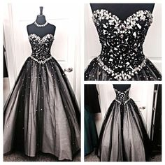 2015 Dresses Black And Silver Stones Prom Dresses Tulle Sweetheart Corset Prom Ball Gowns Fashion Dress For Party Vestido De Formatura Prom Dress Shops In Essex From Adminonline, $128.71  Dhgate.Com