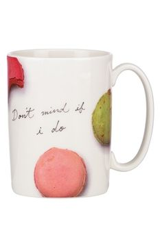 kate spade new york 'snap happy - macaroon' porcelain mug available at #Nordstrom