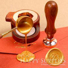 1 set of Sealing Wax Rosewood Wooden by HappyJewelrySupplies