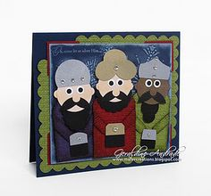 Stampin' Up!  Punch Art  Geraldine Andrade  Three Kings