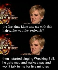 HILARIOUS!!! Jennifer Lawrence is awesome! (she came in like a wrecking ball... but classy) @Karlie Riess Munro Davis @H A L E Y |  V A N  |  L I E W Davis @Lauren Davison Foster @abbey Kinney @Mika Barnes @Emily Schoenfeld Sheeder Maybe you guys will find this as funny as I did! :)