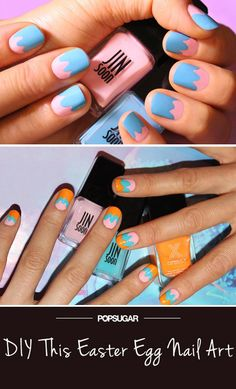 Pin for Later: 2 Easy Easter Egg Nail Art DIYs You Can Do in 5 Minutes