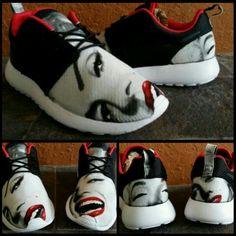 Wicked cool!! Marilyn Monroe Nike Roshe running shoes!