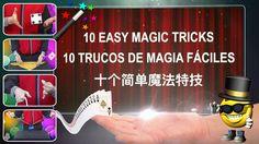 10 Easy Magic Tricks: 10 Trucos de Magia Fáciles: 十个简单魔法特技