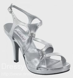 Claire Bridesmaid Shoes in Silver Metallic