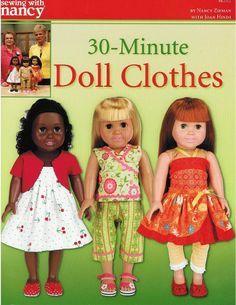 18 doll clothes patterns free printable | Fancywork & Fashion.com