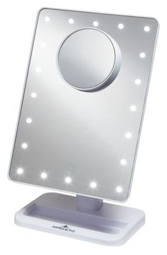 Portable Vanity Mirror With Lights Amusing Glam Up With This Portable Vanity Mirror Illuminated With Dimmable Inspiration Design
