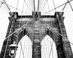 Black and White Photography  Brooklyn Bridge by LifeDevelopedPhoto, $20.00