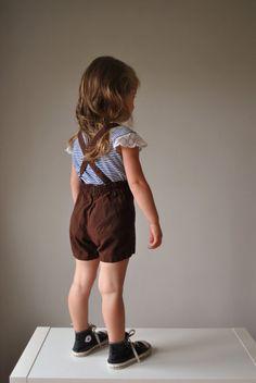 Chocolate Suspender shorts