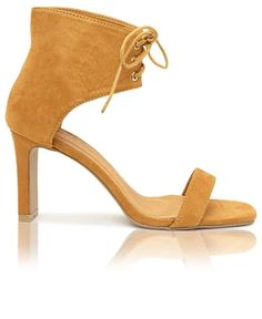 Lace Up Heels - Mustard Lace Up Heels, Block Heels, Open Toe, Mustard, Pairs, Lady, Leather, Shopping, Fashion