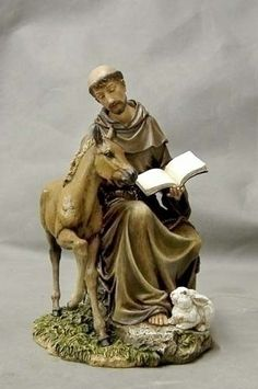 Saint Francis With Horse Statue. This is a very special statue as it depicts Saint Francis sitting with a horse. Saint Francis was known to love animals and connect with them on a spiritual level. Mad