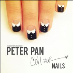 Tuxedo nails- the beauty department