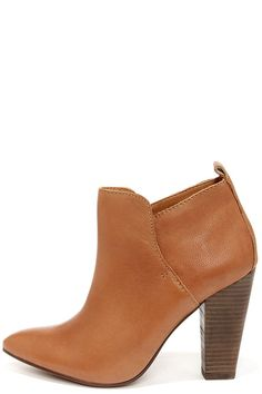 pointed toe leather booties