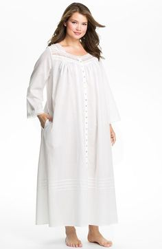 Eileen West Button Front Nightgown (Plus Size) | Nordstrom