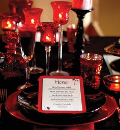 Love At First Bite - A lush Vampire Style Dinner Party - Click Pic for Tutorial