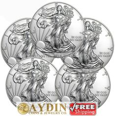 Lot of 5 - 2016 1 oz .999 American Silver Eagle GEM BU $1 Coins SKU# 394024  http://i.ebayimg.com/images/g/0SQAAOSw-0xYOhPT/s-l1600.jpg      Item specifics    									 			Coin:   												American Eagle  									 			Weight:   												5 Troy Ounces    									 			Strike Type:   												American Silver Eagles  									 			Material:   												.999 Fine Silver    									 			Certification:  ... https://www.shopnet.one/lot-of-5-2016-1-oz-999-american-silver-eag