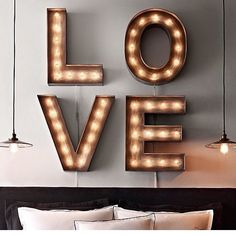 We're in LOVE with these oversized LED letters! #regram @chaptertuesday