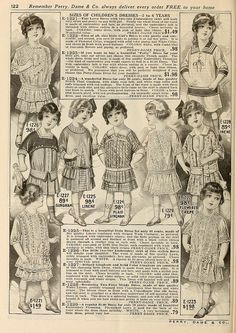 Children's dresses 2 to 6 years pages 122-123 Perry, Dame & Co. 1915 Spring & Summer Catalogue