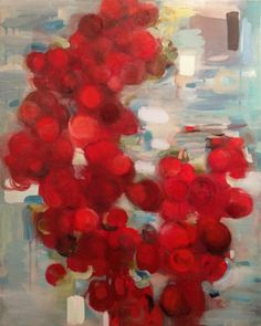 """Cherry Blue, 36x24"""", oil on canvas, 2012, private collection MARY ANN STRANDELL ©"""