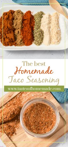 Just 7 simple spices blended together to create the best homemade taco seasoning. - Just 7 simple spices blended together to create the best homemade taco seasoning. Informations About - Easy Taco Seasoning Recipe, Chicken Taco Seasoning, Taco Seasoning Recipes, Mccormick Taco Seasoning, Chili Seasoning, Taco Recipe, Homemade Spices, Homemade Seasonings, Homemade Spice Blends