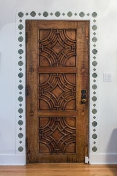 Mediterranean decor | carved wood door | interior design ideas for your saterdesign.com home!
