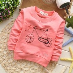 baby spring autumn lovely bicycle cotton roupas infantis menino baby girls sweatshirts 1pcs KT236A-in Hoodies & Sweatshirts from Mother & Kids on Aliexpress.com | Alibaba Group