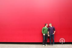 Keith and Arthur outside The Guthrie Theater,