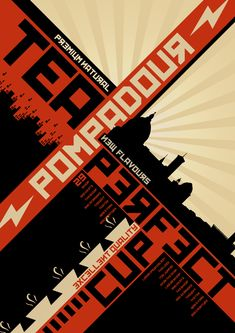 Constructivism Inspired Poster by Yehia Nada, via Behance