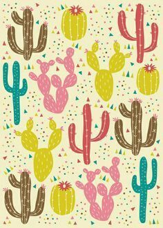 Would love this cactus print on fabric!