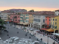 Piazza Bra, Verona, is situation just outside of Verona's famous arena, and is filled with the greatest restaurants and pubs in town.