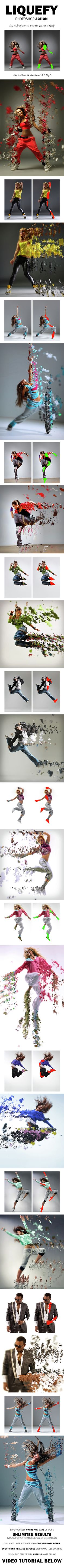 Liquefy Photoshop Action - Photo Effects Actions