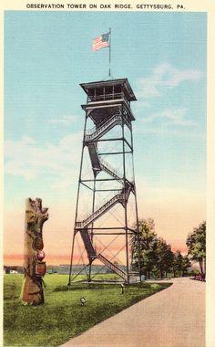 Observation Tower on Oak Ridge - Gettysburg,Pennsylvania