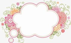 hand-painted flowers border, Flowers Border, Creative Borders, Flowers PNG and PSD Page Borders Design, Border Design, Tarjetas Diy, Printable Frames, Borders And Frames, Binder Covers, Card Patterns, Floral Border, Note Paper