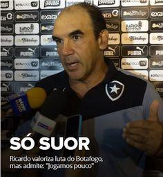 "BotafogoDePrimeira: Ricardo valoriza luta do Botafogo e vê ""mérito"" do..."