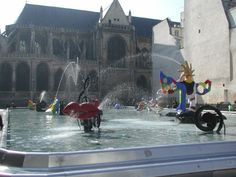 Centre Pompidou fountain Paris (I love this fountain, I remember not wanting to leave it)