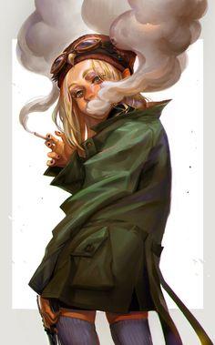 Smoking girl from Owl Squad Smoke Drawing, Smoke Art, Smoke Painting, Cartoon Girl Drawing, Girl Cartoon, Girl Smoking Art, Cartoon Smoke, Girl Sketch, Girls Characters