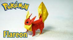 POKEMON - Origami Flareon - ブースター tutorial (Henry Phạm/Aidan Johnathan)