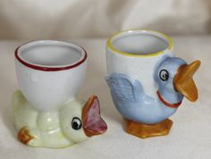 Vintage Egg Cups Ducks Made in Japan