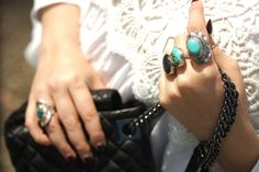 Turquoise and silver boho rings | www.ladymelbourne.com.au