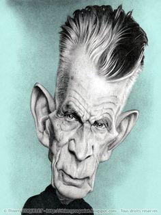 SAMUEL  BECKETT - Irish Literature - illustration of Thierry Coquelet