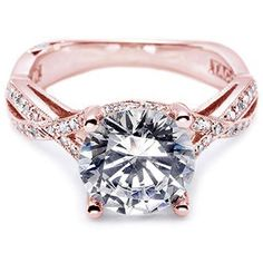 Rose Gold Engagement Rings | engagement ring, we absolutely love the Classic Crescent engagement ...