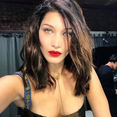 "1m Likes, 4,983 Comments - Bella Hadid (@bellahadid) on Instagram: ""Rouge Dior 999 making an appearance this morning"""