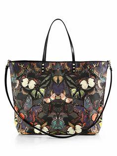 Glamour| Serafini Amelia| Valentino - Butterfly Leather Tote - Saks.com
