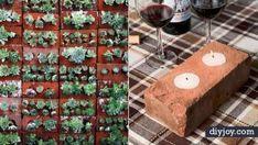 34 DIY Ideas With Bricks Looking for some cool DIY ideas for bricks Perhaps you have some leftover bricks from a home improvement project perhaps nbsp hellip Brick Projects, Outdoor Projects, Projects To Try, Cool Diy, Brick Garden, Outdoor Art, Outdoor Stuff, Fence Art, Garden Markers