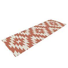 Kess InHouse Heidi Jennings Tribal Chevron Black Round Beach Towel Blanket