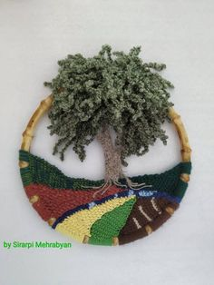 Crochet Wall Hangings Crochet landscape wall art crochet picture Home decoration Mother day gift Fiber Art Crochet Wall Art, Crochet Wall Hangings, Crochet Gifts, Easy Crochet, Landscape Walls, Religious Gifts, Fabric Art, Textile Art, Valentine Gifts
