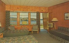Forge Motel - Old Forge, New York | Flickr - Photo Sharing!  Old Forge Lake as viewed from one of the forty units of the FORGE MOTEL. Swimming Pool and Howard Johnson Restaurant. Central Adirondack Mts., Old Forge, N.Y. AAA Approved. A Quality Court